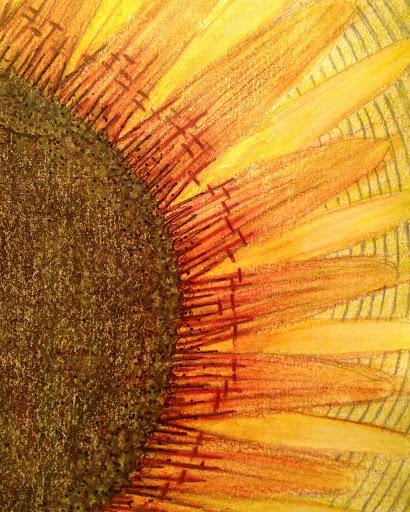 ICAD 2016 - Sunflower! Inktense watercolor pencils